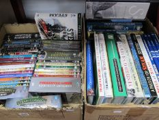 Train and Railway Related DVD's, including boxed sets; plus railway related books:- Two Boxes