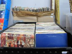 45 RPM Records, various genres, many 1970's, 80's mainly in sleeves:- Three Boxes