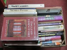 Antiques & Collectors Books, including Porcelain, Art, Model Trains, Furniture, Glass:- One Box