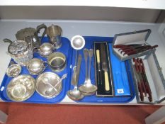 Assorted Plated Ware, including Christofle and C. Balaine, a hallmarked silver teaspoon, plated