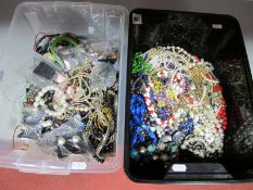 A Mixed Lot of Assorted Costume Jewellery, including beads, imitation pearls, bangles, chains,