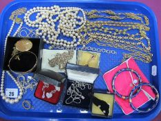 """A Mixed Lot of Assorted Costume Jewellery, including pair of cloisonné hinged bangles, modern """""""