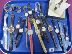 Assorted Ladies Wristwatches, including Suzi B, Rotary, Citizen, Oris etc :- One Tray