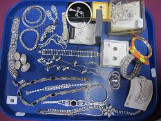 A Collection of Assorted Modern Diamanté Costume Jewellery, including hair slides, bangles etc :-