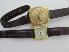 Omega; A Retro Automatic Gent's Wristwatch, the signed circular dial with line markers, centre