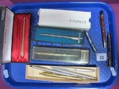 "Vintage Wyvern Orium No.3 Pencil, red/brown marbled; a smaller example ""Wyvern No.11"", blue/brown,"