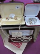 Majorica, Napier and 'Newquay Pearl' Imitation Pearl Bead Necklaces, together with imitation grey