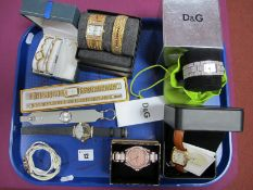 D&G Time and Other Ladies Wristwatches :- One Tray