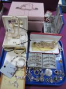 A Mixed Lot of Assorted Costume Jewellery, including imitation pearl bead necklaces, earrings,