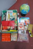 Children's Games: 'Check a Peg', 'Magic Robot', etc; together with 'Tecnodidattica' globe, etc:- One