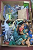 Action Man, Invicta Plastic Dinosaurs, Chinese figures under glass domes, Subbuteo part team,