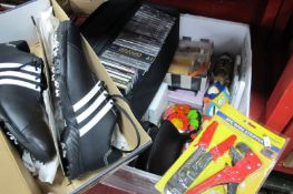 Laura Ashley and Sanctuary Beauty Sets, coin money boxes, C.D's, etc, Adidas Traxion Golf Shoes.