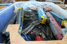 Hornby, Lima, Airfix and Other Model Trains, track, bridge, etc:- One Box