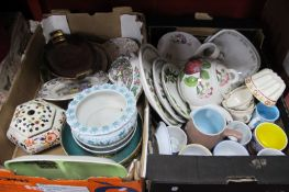 Denby, Portmeirion, Carlton and Other pottery:- Two Boxes