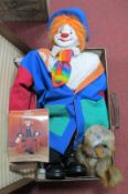 Charlie Bears 'Wanda' Owl, Hobo designer doll 'Rainbow' limited edition of 500, leather case.