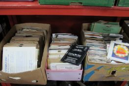 Records - 45's and 78rpm's, various genres:- Three Boxes