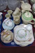 Crown Devon 1930's Coffee Set, of fourteen pieces, Shelley, Roslyn and other ceramics:- One Tray