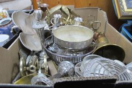 A1 Plate and Hoka Dishes, Apex jam globe, brass ships style bell, kettle, model stalks, other