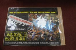 Quad Poster 'The Poseidon Adventure', starring Gene Hackman, Ernest Borgnine, Roddy Mcdowall,