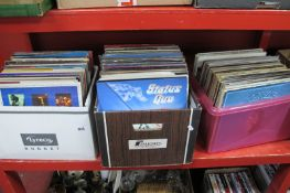 Records - 33rpm's, including Housemartins, Ian Dury, Eagles, Status Quo, mixed genres:- Three Boxes
