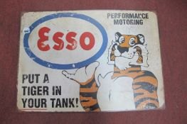 Esso 'Put a Tiger in Your Tank' Metal Wall Sign, 70cm wide.