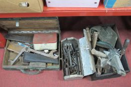 Tools: Sacason, Willey of Leeds spanners, drill bits, jack, etc:- Three Boxes