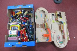 A Quantity of Diecast Model Vehicles, by Burago, Matchbox, Corgi and other, sometimes boxed;
