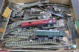 A Quantity of Hornby Dublo Three Rail Track, a Class 20 Hornby Dublo Locomotive, spares or repair
