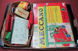 A Quantity of Meccano Components, including Outfit No. 6 (unchecked), instruction leaflets.