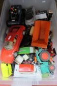 A Box of Loose Diecast, by Corgi, Lledo, Burago, Tri-ang and others, all playworn.