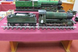 A 3½ Inch Gauge 2-6-0 'Mogul' Live Steam Locomotive, with tender, finished in GWR green with R/No.