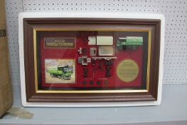 An 'Exploded' Matchbox Model of Yesteryear - 'Yorkshire Steram Wagon', in frame and boxed.