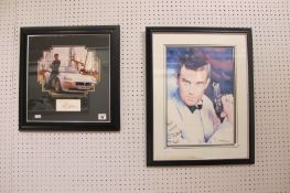James Bond 'The World Is Not Enough' Based Photograph, with separate Pierce Brosnan signature,