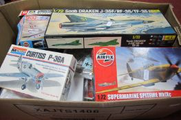 A Quantity of Plastic Model Aircraft Kits, by assorted manufacturers, kits are either missing parts,