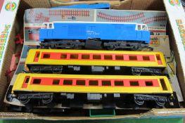 A Quantity of c. 1970 Plasitc Big Big Train 'O' Gauge Model Railway, by Rovex, Tri-ang,