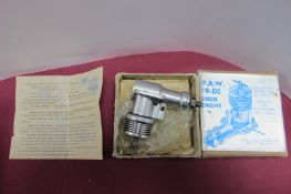 A Progress Aero Works P.A.W. (Macclesfield) 3.2CCS 19-D5 RC Model Diesel Aero Engine, designed by