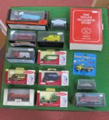 Sixteen 1:76th Scale Diecast Model Lineside Vehicles, by EFE, Lledo 'Trackside' Oxford and other