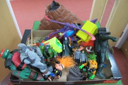 A Quantity of Plastic Model Toy Figures, Helicopter, Accessories, themes include Xbox Halo,