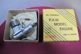A Progress Aero Works P.A.W (Macclesfield) High Performance 249 'Ball Bearing' RC Model Engine,