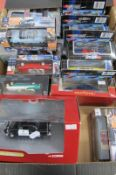 Fourteen Diecast Model Vehicles, by Corgi, Vitesse and other, all with an American theme,