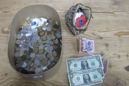 A Collection of Predominately Overseas Base Metal Coins, many countries represented, to include