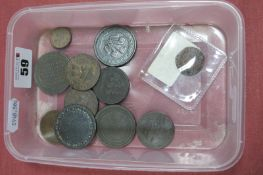 A Small Quantity of Ten XVII/XVIII and XIX Century Tokens, including 1794 Berkhampstead Lace