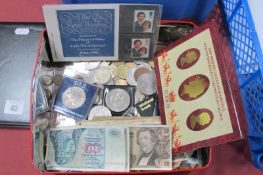 A Two Pound 'Dove of Peace', a quantity of UK Commemorative Crowns, a quantity of circulated UK
