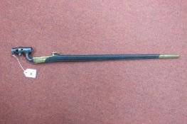 A XIX Century Marini Henry Socket Bayonet and Scabbard, fully stamped scabbard, 55cm blade,