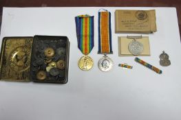 A WWI and WWII Group of Three Medals, comprising War Medal and Victory Medal to 41324 Pte G.H.Mills,