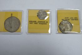Old English Hammered Coins, to include Shilling - Philip and Mary? poor - lacking most detail,
