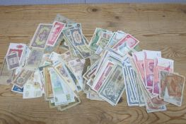 Two Hundred and Fifty Plus Overseas Circulated Banknotes, many countries represented, including