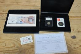 A Westminster Issue Jane Austen Ten Pounds Banknote, date stamp presentation, S/N CA17 010862 (