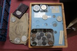 A Small Quantity of Mainly British Base Metal Coins, including George III Halfpennies, Commemorative