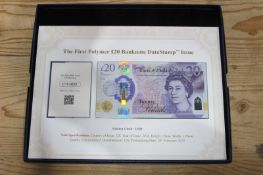 A Westminster Presentation The First Polymer Twenty Pounds Banknote, date stamp issue, UK 2020 JMW
